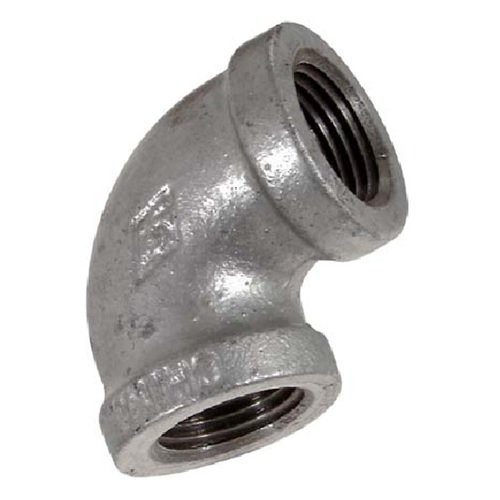Everflow Supplies GMNL0014 1/4'' 90 Degree Galvanized Malleable Iron Elbow for High Pressures