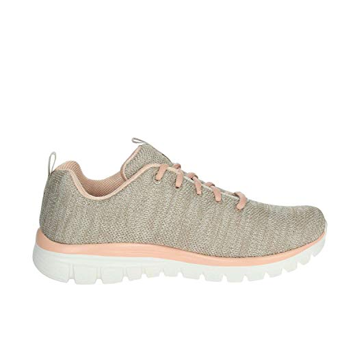 rosa Graceful Skechers Beige 12614 White Sneaker Black qnYnpz