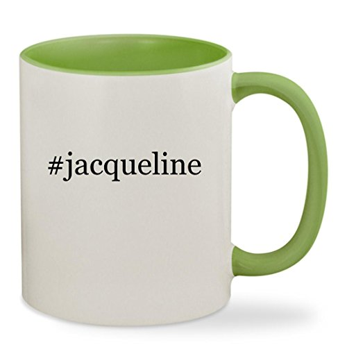 #jacqueline - 11oz Hashtag Colored Inside & Handle Sturdy Ceramic Coffee Cup Mug, Light Green