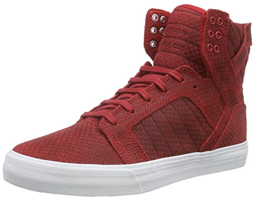 Red White Top Cardinal High Supra Unisex Skytop Car Adults' q1047w