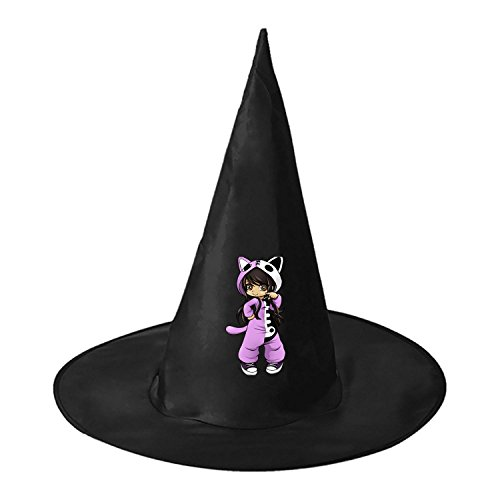 RRUH Halloween Black Witch Hat-Aphmau Cat (Stampy Cat Costume For Halloween)