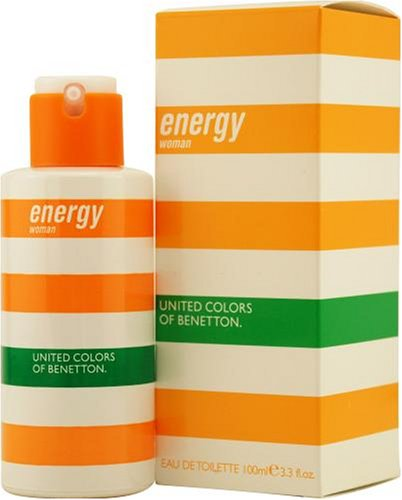 Agua de colonia benetton energy woman con vaporizador .100 ml.