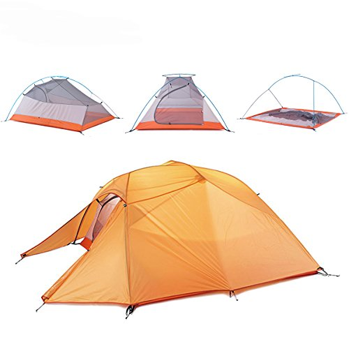 Naturehike Cloud-Up Ultra-light 3-Person Tent (Orange)