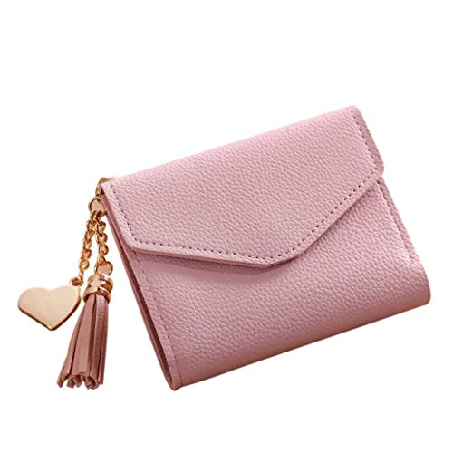 Ladies China Handbags (Wallet,AfterSo Simple Short Wallet Tassel Coin Purse Card Holders Handbag for women (11cm/4.33