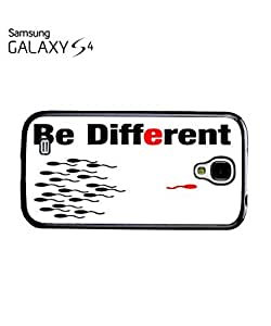 Be Different Sperm Mobile Cell Phone Case Samsung Galaxy S4 Black