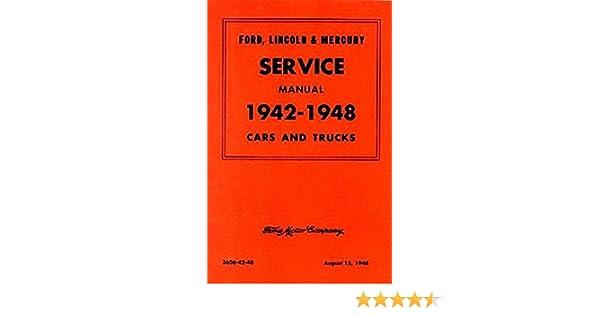 1942 1948 ford mercury car truck service shop repair manual 1942 1948 ford mercury car truck service shop repair manual decal ford motors mercury amazon com books