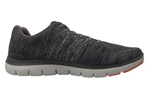 Skechers - Zapatillas de running de tela para hombre gris gris