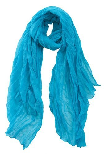 Central Chic Women's Large Crinkled Scarf