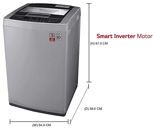 LG 6.5 kg Inverter Fully-Automatic Top Loading Washing Machine (-T7569NDDLH.ASFPEIL , Middle Free Silver) Discounts Junction