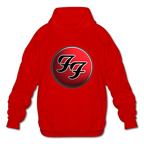 Price comparison product image WYBU Men's Foo Fighters Long Sleeve Sweater Size XXL Red, 100% Cotton