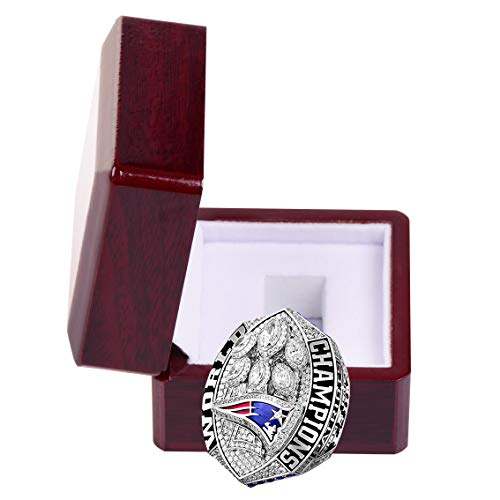 MT-Sports 2019 New England Patriots Football Super Bowl Collectible Gift Fashion Champion Ring with Display Case (11)