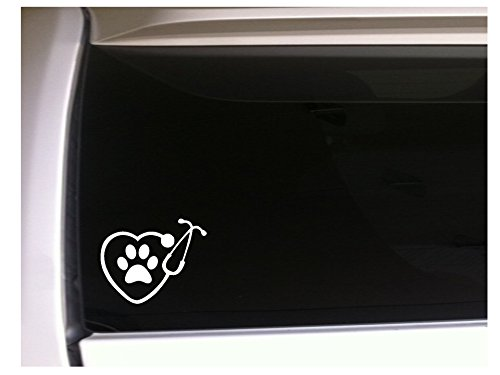 Heart Stethescope with Paw Print 6.5