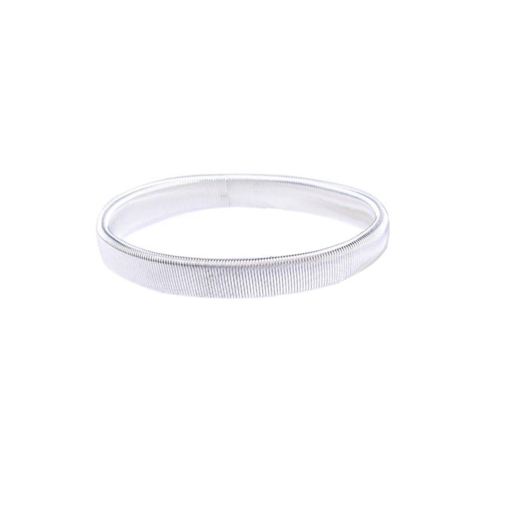 Topro Pair of Shirt Sleeve Holders Metal Arm Bands Garter Elasticated Clolor White Mw9wCx5Ek