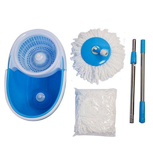 Super buy Microfiber Spining Magic Spin Mop W/Bucket 2 Heads