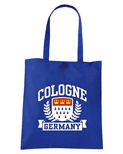 Borsa Shopper Royal Blu TSTEM0266 COLOGNE GERMANY