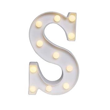 LED Buchstabe Lichter Alphabet,Alphabet LED Brief Lichter leuchten wei/ße Kunststoff Buchstaben Deko Alphabet Leuchtbuchstabe f/ür Liebe Hochzeit Home Party Urlaub Bar Dekoration