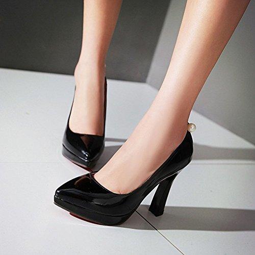 Pumps Dress Aisun Womens Platform Shoes Trendy Simple Black Bead nzngwUFq6
