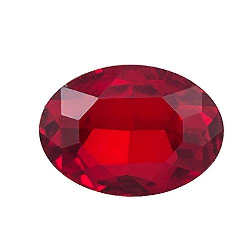 6pcs Embellishment Rhinestone, Siam Oval Foil Back Crystal 14x10mm