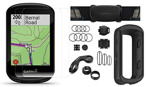 Garmin Edge 830 (2019 Version) Cycle GPS Bundle with Chest Strap HRM, Bluetooth Speed/Cadence Sensors, Silicone Case & Screen Protectors (x2) | Touchscreen, Mapping | Bike Computer (Black + Sensors) ()