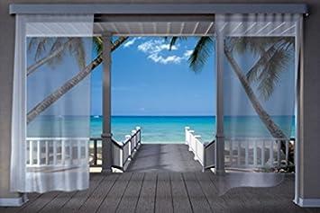 Strandhaus karibik  1art1 48297 Strandhäuser - Die Karibik 8-Teilig Fototapete Poster ...