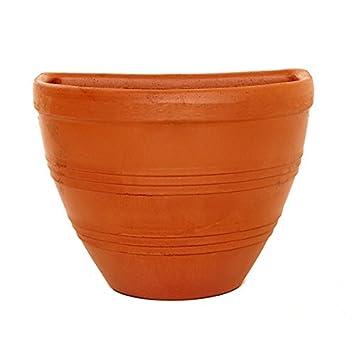 25 Cm Uni Terracotta Kubel Wandtattoo Topf Aufgehangt Topf Blume