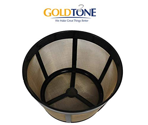 12 Cup Gold Tone Filter - GoldTone 10-15 Cup Reusable Basket Filter Designed for Bunn Commercial Coffee Brewers (1 PACK)