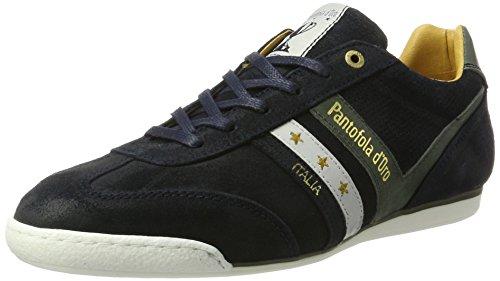 Pantofola d'Oro Vasto Suede Low, Sneaker Uomo Blu (Dress Blues .29y)