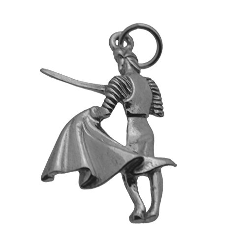 Prince of Diamonds Inc Real Genuine Sterling Silver .925 Bull Fighter Bullfighter Torero Matador Pendant Charm