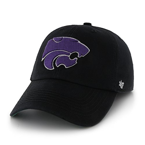 State Fitted Cap - '47 NCAA Kansas State Wildcats Franchise Fitted Hat, Black, Large