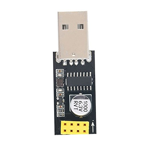 diymore CH340 USB to ESP8266 ESP-01 ESP-01S Serial Wireless Development Board Wireless ESP8266 Wifi Adapter Module (USB to ESP8266)