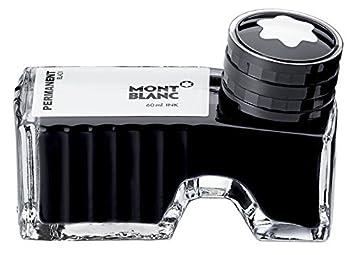 Montblanc 107755 Tintero Permanent Black – Tinta para pluma de alta calidad en lujoso diseño,