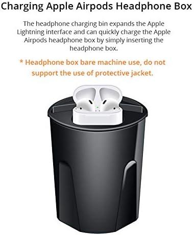 AWJ Veloce Caricabatteria per Auto Senza Fili Tazza per Il iPhone XsMax/XR/8 Auto di Ricarica per Apple Airpods Qi Senza Fili Caricabatterie per Il Samsung S10/S9,Intelligente