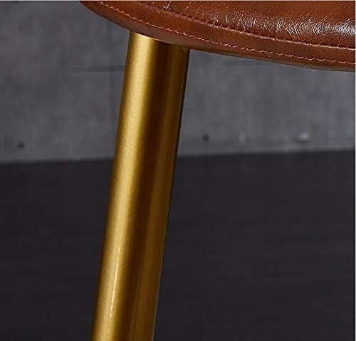 Chaise corticale haut de gamme moderne Chaise de salle en cuir Chaise de salle à manger Artistique en fer de style européen - Marron