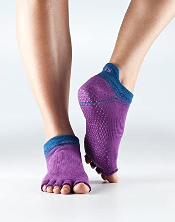 Unisex Adulto Toesox Half Toe Low Rise Calcetines de Yoga