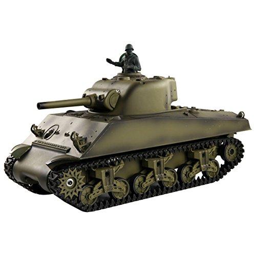Costzon 1:16 2.4G US M4A3 Sherman RC Tank w/Smoke & Sound