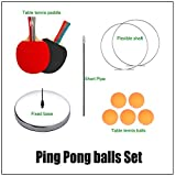 DOBESTS Ping Pong Balls Paddles Set Table Tennis