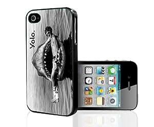 YOLO Shark Bite Hard Snap On Case (iPhone 4/4s)