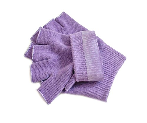 Hocee Moisturizing Gel Gloves Touch Screen Spa Moisture Skin Care Soft Cotton with Gel Repair Heal Eczema Cracked Dry Hand, Gel Lining Infused with Essential Oils and Vitamins, A Pair (Purple) by Hocee (Image #4)