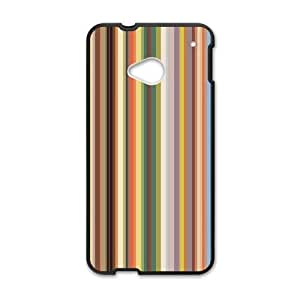 Canting_Good Simple Colorful Stripes Custom Case Cover Shell for HTC One M7(Laser Technology)