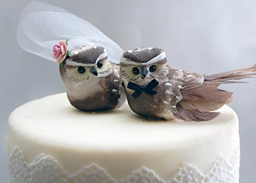 Owl Cake Topper in Cocoa Brown: Woodland