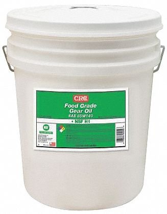 CRC Food Grade Gear Oil, 15 to 375 Degrees Temperature, 5 Gallon Pail, Clear, SAE -