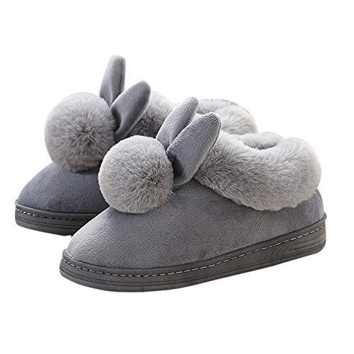 Bottes Chaud Neige Souples Vertvie Épais Anti Chaussures Femme dérapant Gris Chaussons Confortable Hiver De Fleece Polaire Pantoufles vH7qT7wE