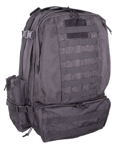 Voodoo Tactical Tobago Cargo Pack / Backpack – Hydration Compatible – Black – 15-7866, Outdoor Stuffs