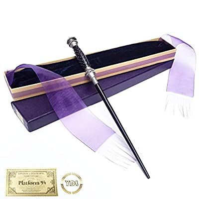 Bellatrix Metal Core HP Hermione Magic Wand Elegant Ribbon Box Packing Cosplay with Train Ticket (Color : Fleur Delacour): Home & Kitchen