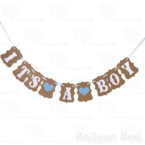 IT IS A BOY Paper Garland Bunting Banner Christening Baby Shower Garland Decoration Birthday Party Favors Photo (Halloween Costumes 6th Grade Boy)