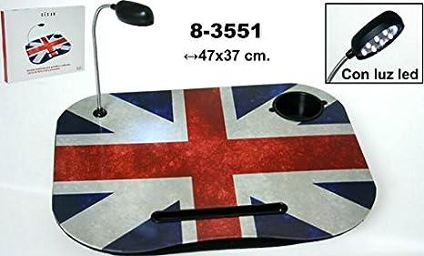 Supernova Decoracion-Bandeja acolchada para ordenador portátil de PVC decorada con la bandera de Reino Unido (UK) Medidas: 47x37 cm: Amazon.es: Hogar