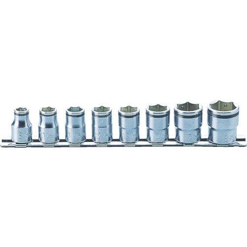 Sq Nut (KO-KEN(JAPAN) 3/8 (9.5 mm) SQ. Nut grip socket rail set 8 pair RS 3450 M / 8)