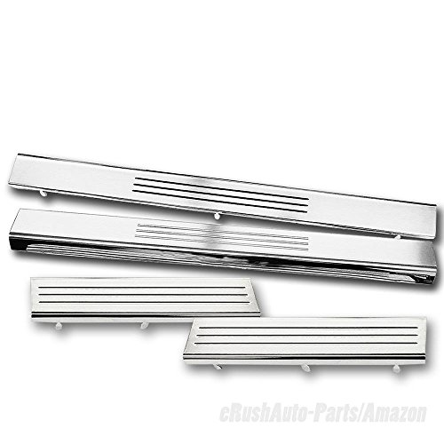 - erushautoparts Snap-On Door Step Protection Sill Plate For 2009-2010 Ram 1500/2500/3500 Quad/Crew/Mega cab
