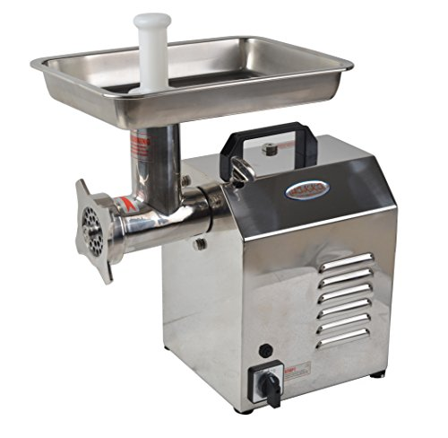 Hakka Brothers TC Series Commercial Stainless Steel Electric Meat Grinders (TC12) by HAKKA BROTHERS