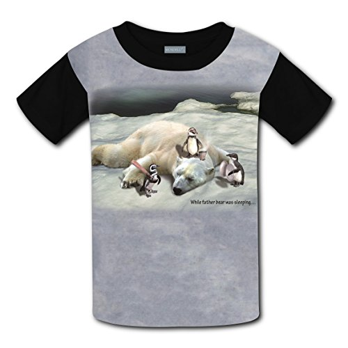 O-Neck New Trendy T-Shirt 3D Design With The Penguin Gang For Unisex Kids S